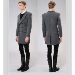 Manteau long homme, il dessine la silhouette